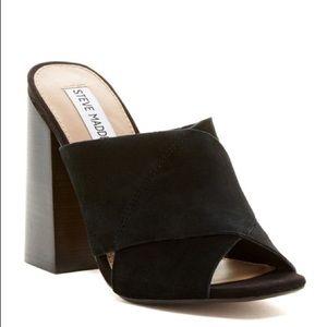 Steve Madden Kristal Block Heel Mules Sandals